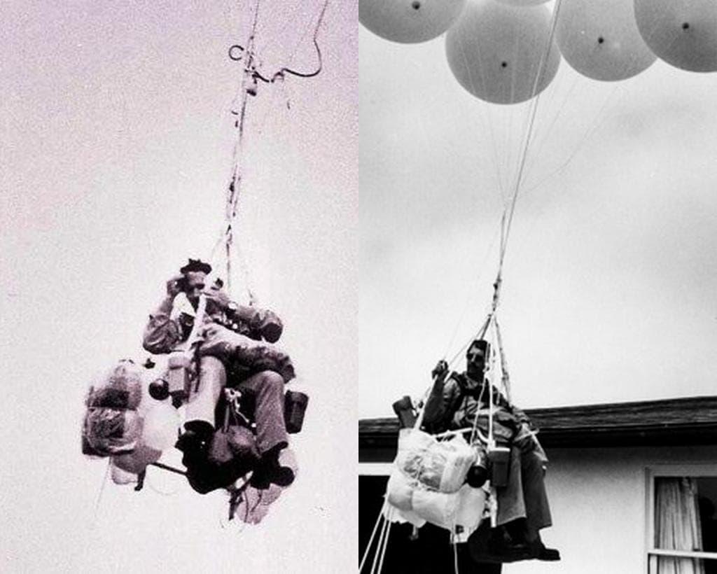 Полёт на надувных шариках Ларри Уолтерса